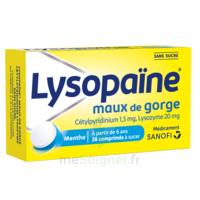 LysopaÏne Comprimés à Sucer Maux De Gorge Sans Sucre 2t/18 à Eysines
