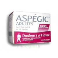 Aspegic Adultes 1000 Mg, Poudre Pour Solution Buvable En Sachet-dose 20 à Eysines