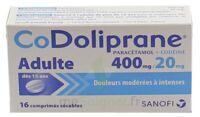 CODOLIPRANE ADULTES 400 mg/20 mg, comprimé sécable à Eysines