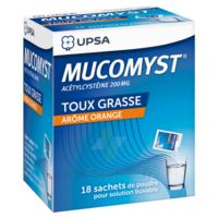MUCOMYST 200 mg Poudre pour solution buvable en sachet B/18 à Eysines