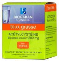 ACETYLCYSTEINE BIOGARAN CONSEIL 200 mg Pdr sol buv en sachet B/20 à Eysines