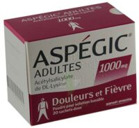 ASPEGIC ADULTES 1000 mg, poudre pour solution buvable en sachet-dose 15 à Eysines