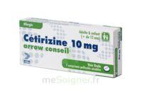 CETIRIZINE ARROW CONSEIL 10 mg, comprimé pelliculé sécable à Eysines