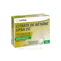 Citrate De Bétaïne Upsa 2 G Comprimés Effervescents Sans Sucre Menthe édulcoré à La Saccharine Sodique T/20 à Eysines