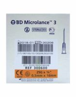 BD MICROLANCE 3, G25 5/8, 0,5 mm x 16 mm, orange  à Eysines