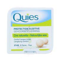 QUIES PROTECTION AUDITIVE CIRE NATURELLE 8 PAIRES à Eysines
