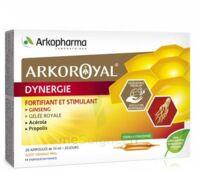 Arkoroyal Dynergie Ginseng Gelée Royale Propolis Solution Buvable 20 Ampoules/10ml à Eysines