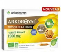 Arkoroyal Gelée Royale Bio Sans Sucre 1500mg Solution Buvable 20 Ampoules/10ml à Eysines