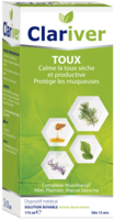 Clariver Solution Buvable Toux Sèche Et Productive Adulte Fl/175ml à Eysines