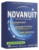 Novanuit Triple Action Comprimés B/30 à Eysines