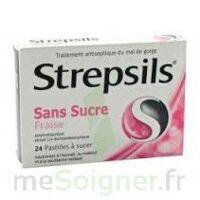STREPSILS FRAISE SANS SUCRE, pastille édulcorée à l'isomalt, au maltitol et à la saccharine sodique à Eysines