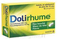 DOLIRHUME PARACETAMOL ET PSEUDOEPHEDRINE 500 mg/30 mg, comprimé à Eysines