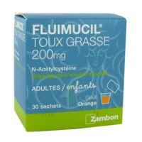 FLUIMUCIL EXPECTORANT ACETYLCYSTEINE 200 mg SANS SUCRE, granulés pour solution buvable en sachet édulcorés à l'aspartam et au sorbitol à Eysines