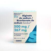 ALGINATE DE SODIUM/BICARBONATE DE SODIUM SANDOZ 500 mg/267 mg, suspension buvable en sachet à Eysines
