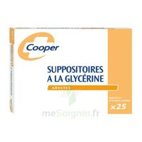 SUPPOSITOIRES A LA GLYCERINE COOPER Suppos en récipient multidose adulte Sach/25 à Eysines