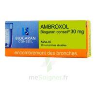 AMBROXOL BIOGARAN CONSEIL 30 mg, comprimé sécable à Eysines
