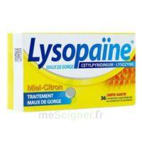 LYSOPAÏNE MAUX DE GORGE CETYLPYRIDINIUM LYSOZYME MIEL CITRON SANS SUCRE, comprimé à sucer édulcoré au sorbitol et à la saccharine à Eysines