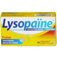 LYSOPAÏNE MAUX DE GORGE CETYLPYRIDINIUM LYSOZYME FRAISE SANS SUCRE, comprimé à sucer édulcoré au sorbitol et à la saccharine à Eysines