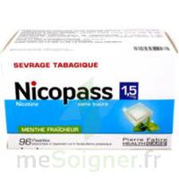 Nicopass 1,5 Mg Pastille Sans Sucre Menthe Fraîcheur Plq/96 à Eysines