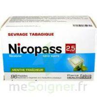 Nicopass 2,5 Mg Pastille Menthe Fraîcheur Sans Sucre Plq/96 à Eysines
