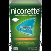 NICORETTE 2 mg Gom à mâcher médic sans sucre fruits Plq/30 à Eysines