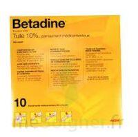 Betadine Tulle 10 % Pans Méd 10x10cm 10sach/1 à Eysines