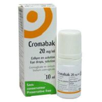 CROMABAK 20 mg/ml, collyre en solution à Eysines