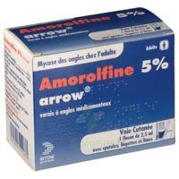 Amorolfine Arrow 5 % V Ongles Médicamenteux 1fl/2,5ml+30spat à Eysines