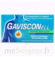 GAVISCONELL Coprimés à croquer sans sucre menthe édulcoré à l'aspartam et à l'acésulfame potas Plq/24 à Eysines