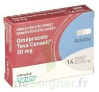 OMEPRAZOLE TEVA CONSEIL 20 mg Gél gastro-rés Plq/14 à Eysines