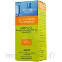AMBROXOL BIOGARAN CONSEIL 0,6 % Solution buvable sans sucre édulcorée au sorbitol Fl/100ml+godet à Eysines