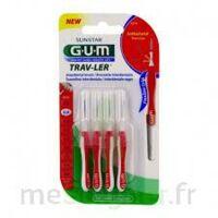 Gum Trav - Ler, 0,8 Mm, Manche Rouge , Blister 4 à Eysines