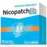 NICOPATCHLIB 14 mg/24 h Dispositifs transdermiques B/28 à Eysines