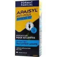Apaisyl Anti-poux Xpress 15' Lotion antipoux et lente 100ml+peigne à Eysines