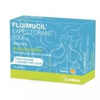 FLUIMUCIL EXPECTORANT ACETYLCYSTEINE 600 mg Glé s buv adultes 10Sach à Eysines