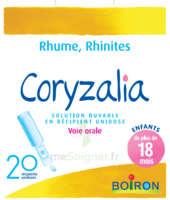 Boiron Coryzalia Solution buvable unidose B/20 à Eysines