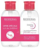 CREALINE H2O Solution micellaire nettoyante apaisante sans parfum 2Fl pompe inversée/500ml à Eysines