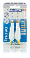 Inava Brossettes Trio Compact Mixte 123 Bleu 0,8mm/ Jaune 1mm/ Orange 1,2mm à Eysines