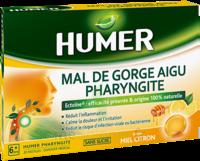 Humer Pharyngite Pastille Mal De Gorge Miel Citron B/20 à Eysines